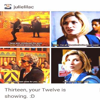 I love how Jodie has been great at showing each of her (the Doctor's past lives! -  I love how Jodi