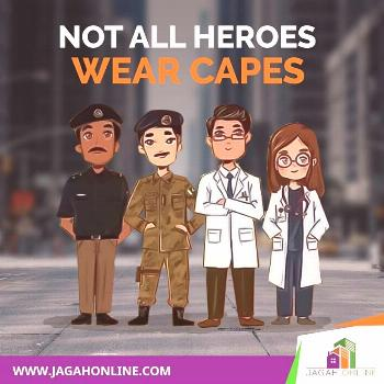 Jagah Online Team Jagah Online pays tribute to the warriors who are fighting for the humanity.