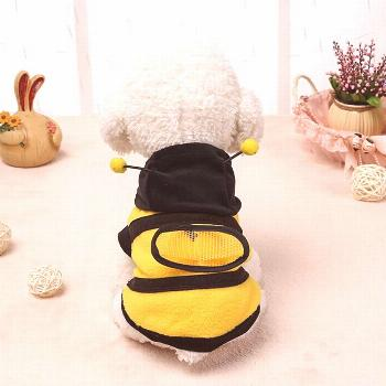 JCXAGR Pet Dog Coat Costume Cute Puppy Bumble Bee Lovely Wings Dog Cat Transformed Dress Coat Pet C