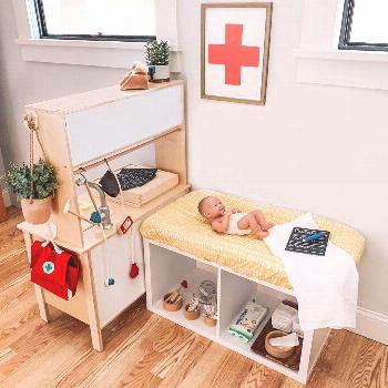 """Jess on Instagram: """"During the playroom rotation I decided to set up a doctors office for the kid"""