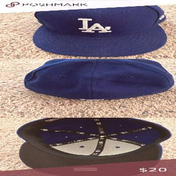 LA Dodgers Baseball Hat 7 1/4 Los Angeles Dodgers Official On Field Cap from New Era. Hat is too sl