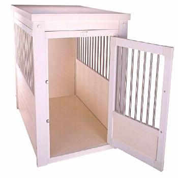 Large Dog Crate End Table with Pull Out Tray – OfficialDogHouse