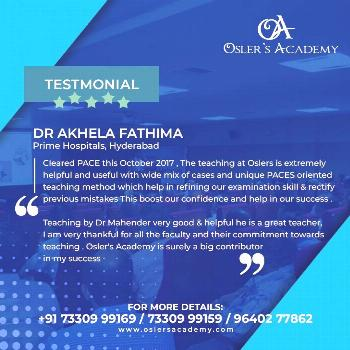 Look what Doctors who got trained at Oslers Academy had to say about us