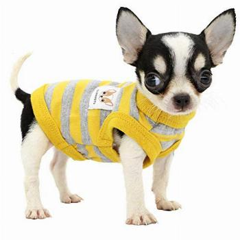 LOPHIPETS 100% Cotton Striped Dog Shirts for Small Dogs