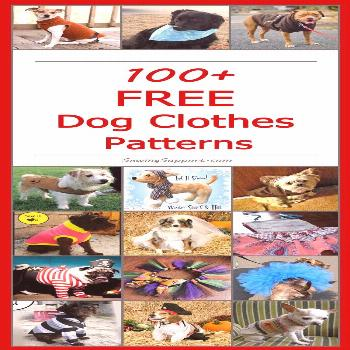 Lots of adorable Free Dog Clothes Patterns to sew!