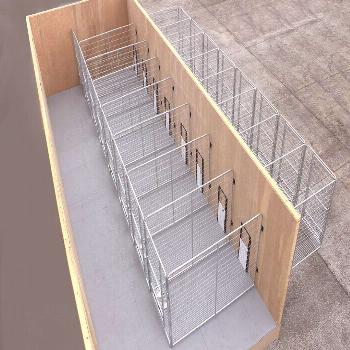 Multiple PRO dog kennels. these inside outside dog kennels are a great way to kennel pets that need