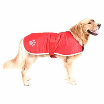 OHF Waterproof Dog Coat Quilted Reflective Cloak Soft Cozy Outdoor Raincoat Blanket Coat(5 Colors 5