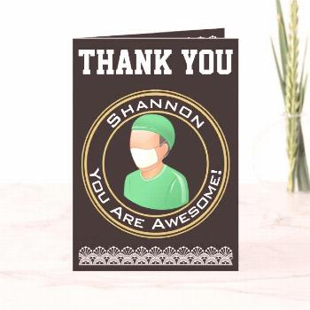 Personalized Thank You for Surgeon Doctor Affiliate