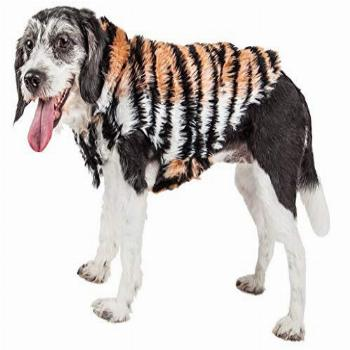 Pet Life Luxe 'Tigerbone' Glamourous Tiger Patterned Mink