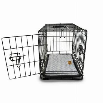 PETSWORLD Double Door Dog Crate, 30 inch w/Divider + Dog Bed