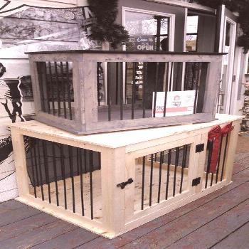 Plans to build your own Wooden Double Dog Kennel - DIY Plans - Medium size