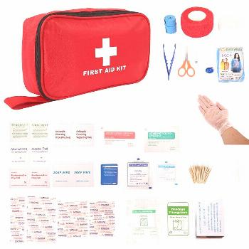 Portable First Aid Kit For Medicines Outdoor Camping Driving Medical Bag Survival Handbag Emergency