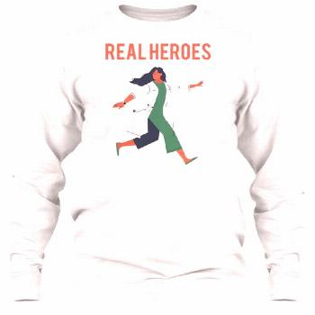 Real heroes are doctors and nurses A tribute to real heroes!  50% of sales are donated to American