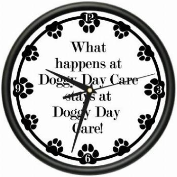SignMission Wall Clock Dog Doggie pet Boarding Gift, Beagle