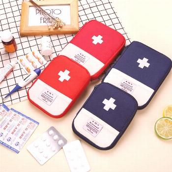 Small First Aid Kit Portable Medicine Bag Home Small Medical Box First Aid Kit Storage Travel Set E