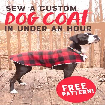 [SPONSORED] Make a custom-sized dog coat in less than an hour using this free pattern and tutorial!