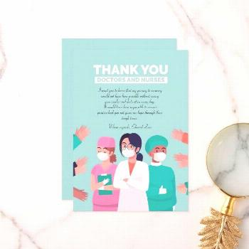 Thank You Doctors and Nurses Card Card,