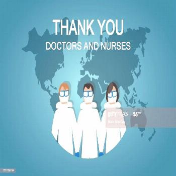 Thank You To All Doctors And Nurses In The World Illustration ,