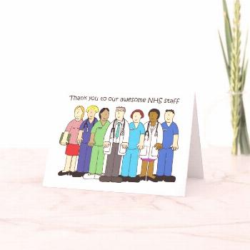 Thank you to Our NHS Staff Cartoon Group. Card
