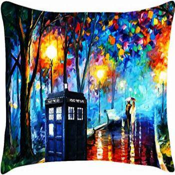 Throw Pillowcase Cover Hot Home Dr Who Tardis Box Painting