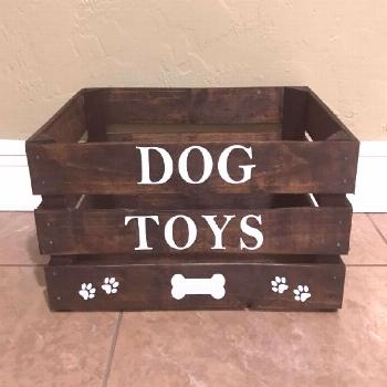 Tips for organizing your dog supplies.