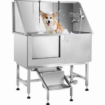 Tuorren 50 Inch Dog Grooming Tub Professional Stainless