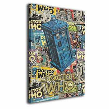 Uimmit Decoration Paintings Canvas Wall Art Home Dr Who love