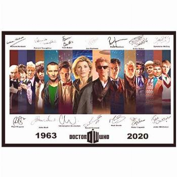 UNFIX Doctor Who Signed Print Dr Who All 14 Doctors Canvas