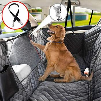 Vailge Dog Seat Cover for Back Seat, 100% Waterproof Dog Car