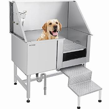 VEVOR 50 Inch Dog Grooming Tub,Professional Stainless