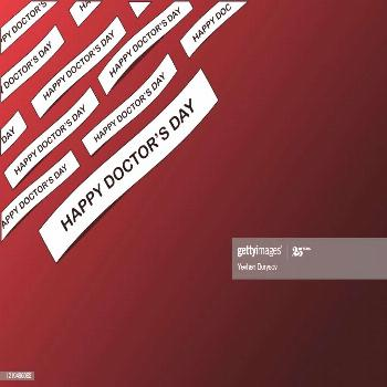 Words Happy Doctors Day On Paper And Dark Red Background Photography ,