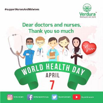 World Health Day - MyVerduraCare On the occasion of World Health Day, the entire team of Myverdurac