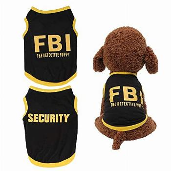 Yikeyo Dog Clothes for Small Dog Boy Male Security Puppy