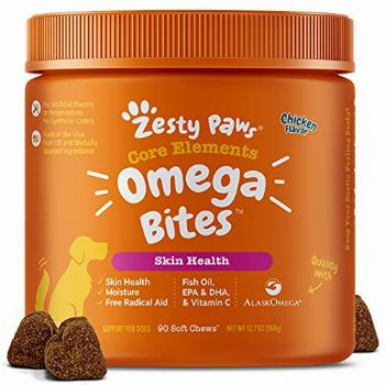 Zesty Paws Omega 3 Alaskan Fish Oil Chew Treats for Dogs -