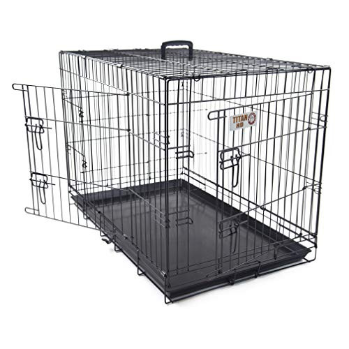 48 inch Double Door Folding Dog Crate By Majestic Pet
