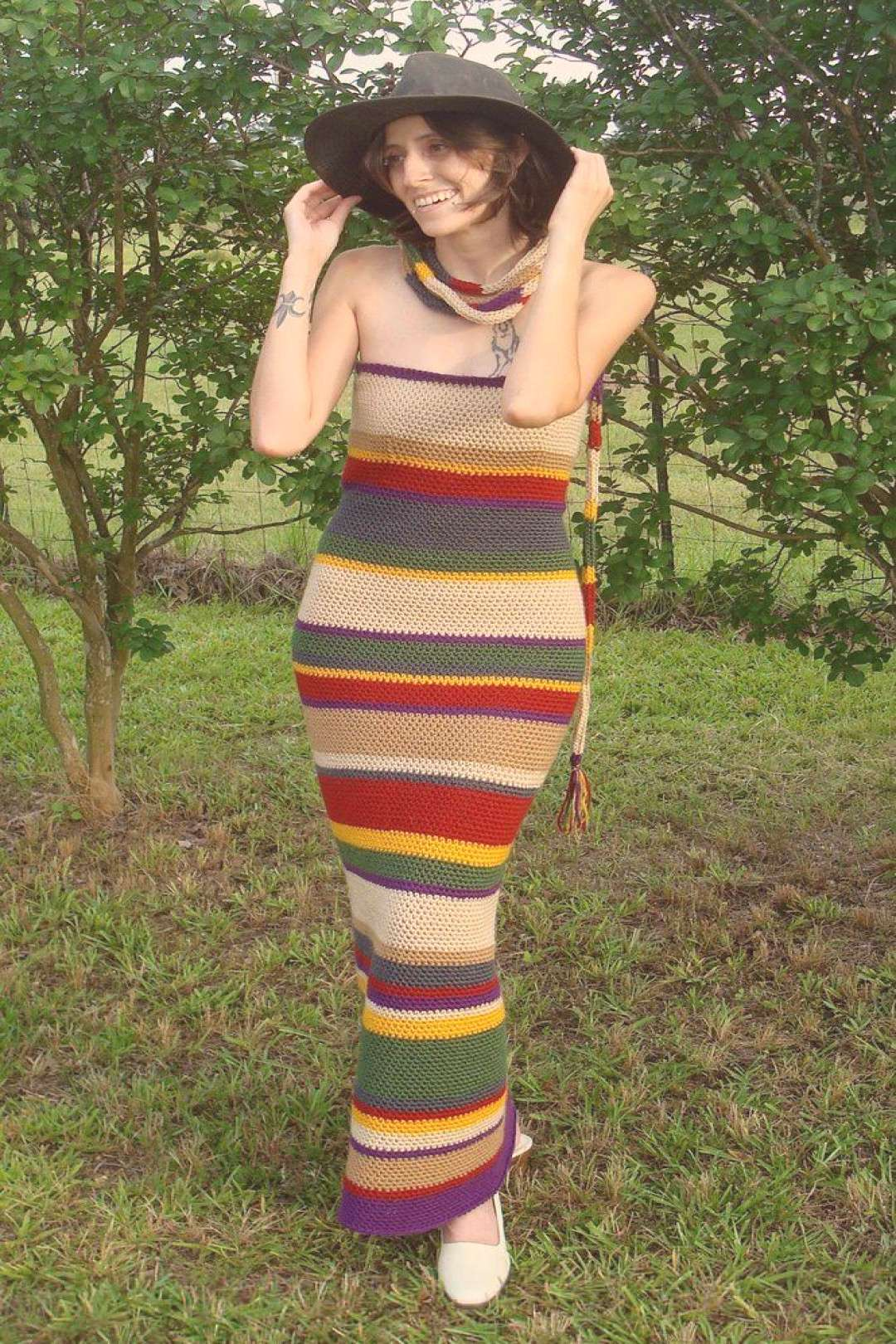 4th Doctor's Scarf Dress -