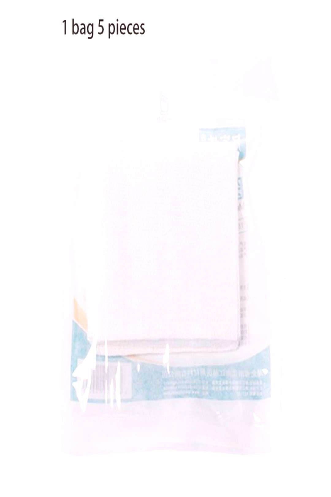 5Pcs/Pack Soft Cotton 8 Layered Sterile Medical Gauze Pad Disinfectant Swab for Wound Dressing Prep
