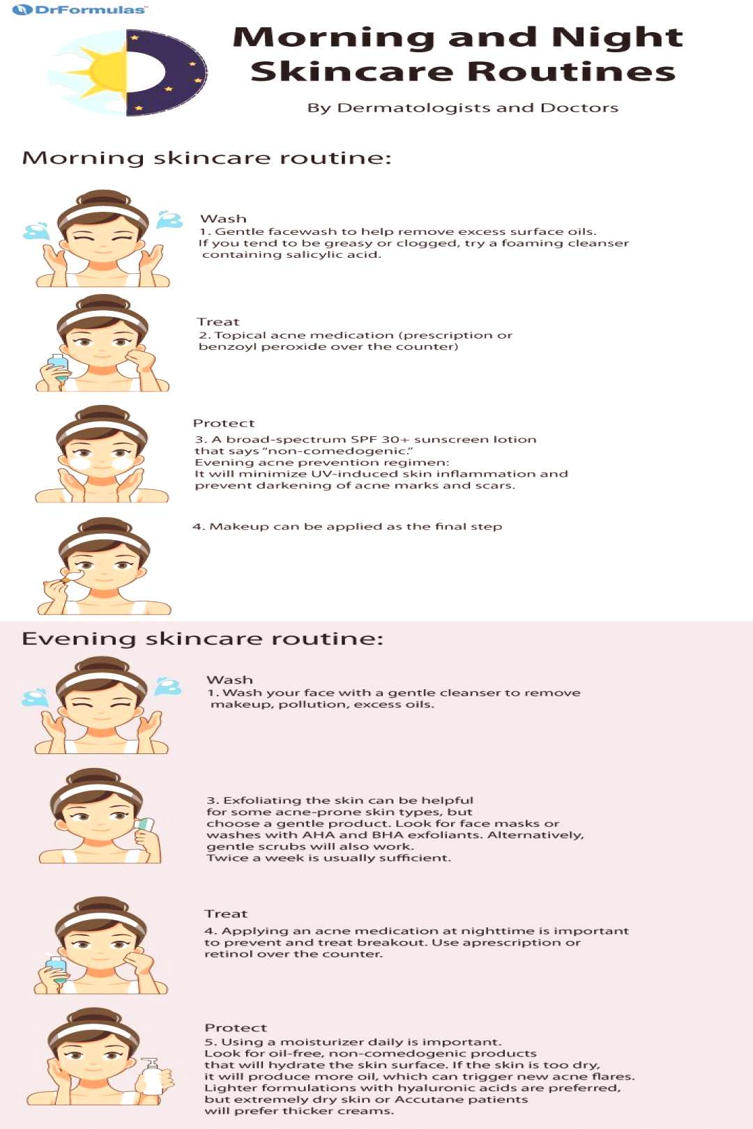 Along with a good face cleansing routine, an effective skincare regimen is also necessary to preven
