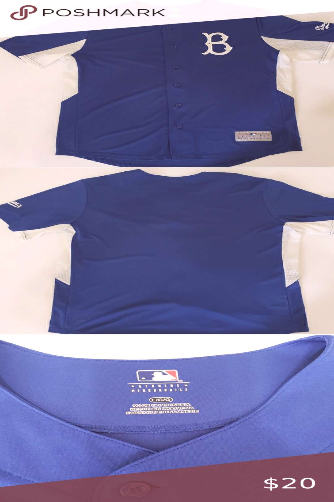 Brooklyn Dodgers baseball jersey Brooklyn Dodgers baseball jersey Size L Excellent condition MLB Ot