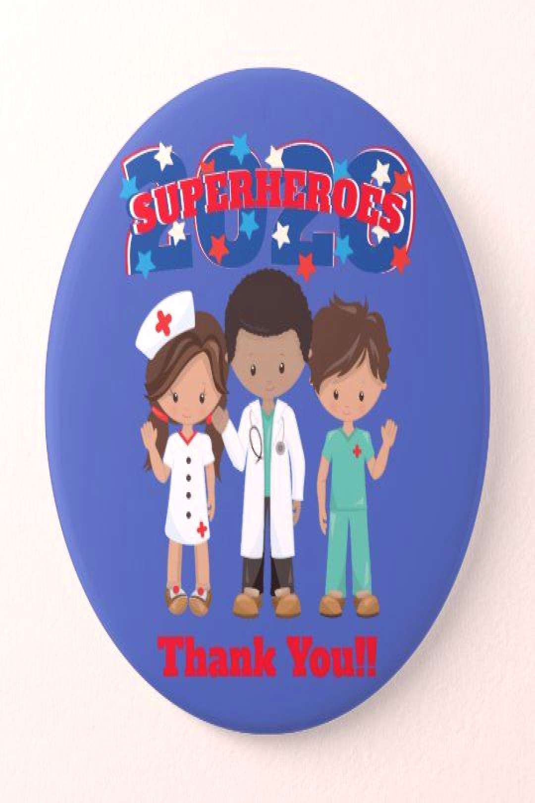 Button Healthcare Heroes 2020 | Thank You We are grateful for the strength and courage of Doctors a