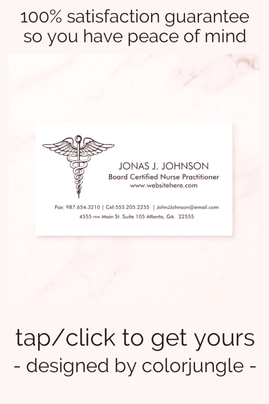 Clean and Professional Black and White Medical Business Card
