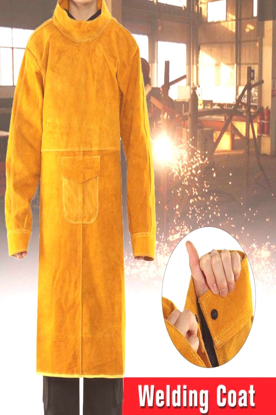 Cowhide Work Clothes Apron Welding Protective Clothing Heat and Fire Resistant Welders Safety Cloth
