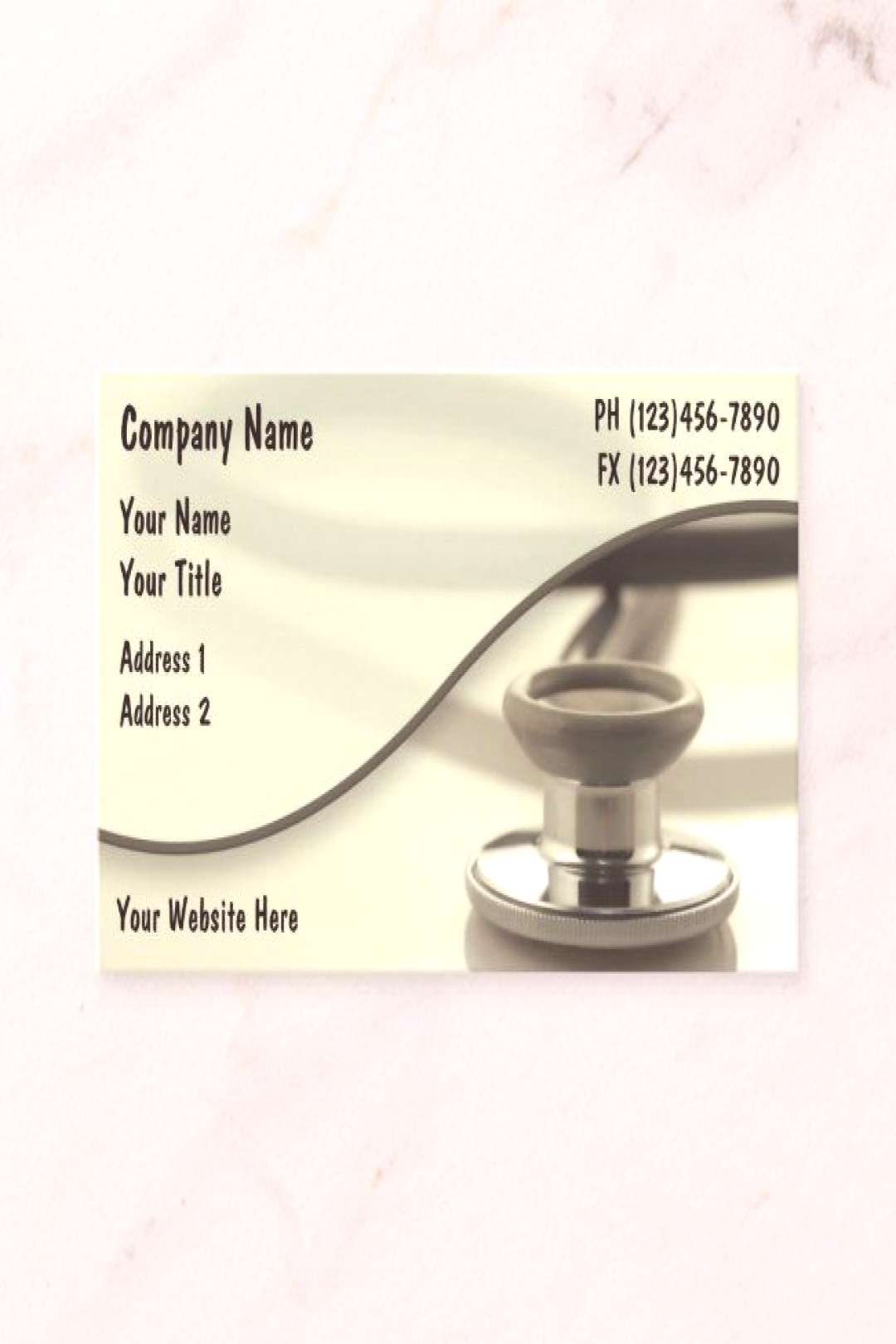 Creative Medical Theme Stethoscope Design Business Card - Show your appreciation for those on the f