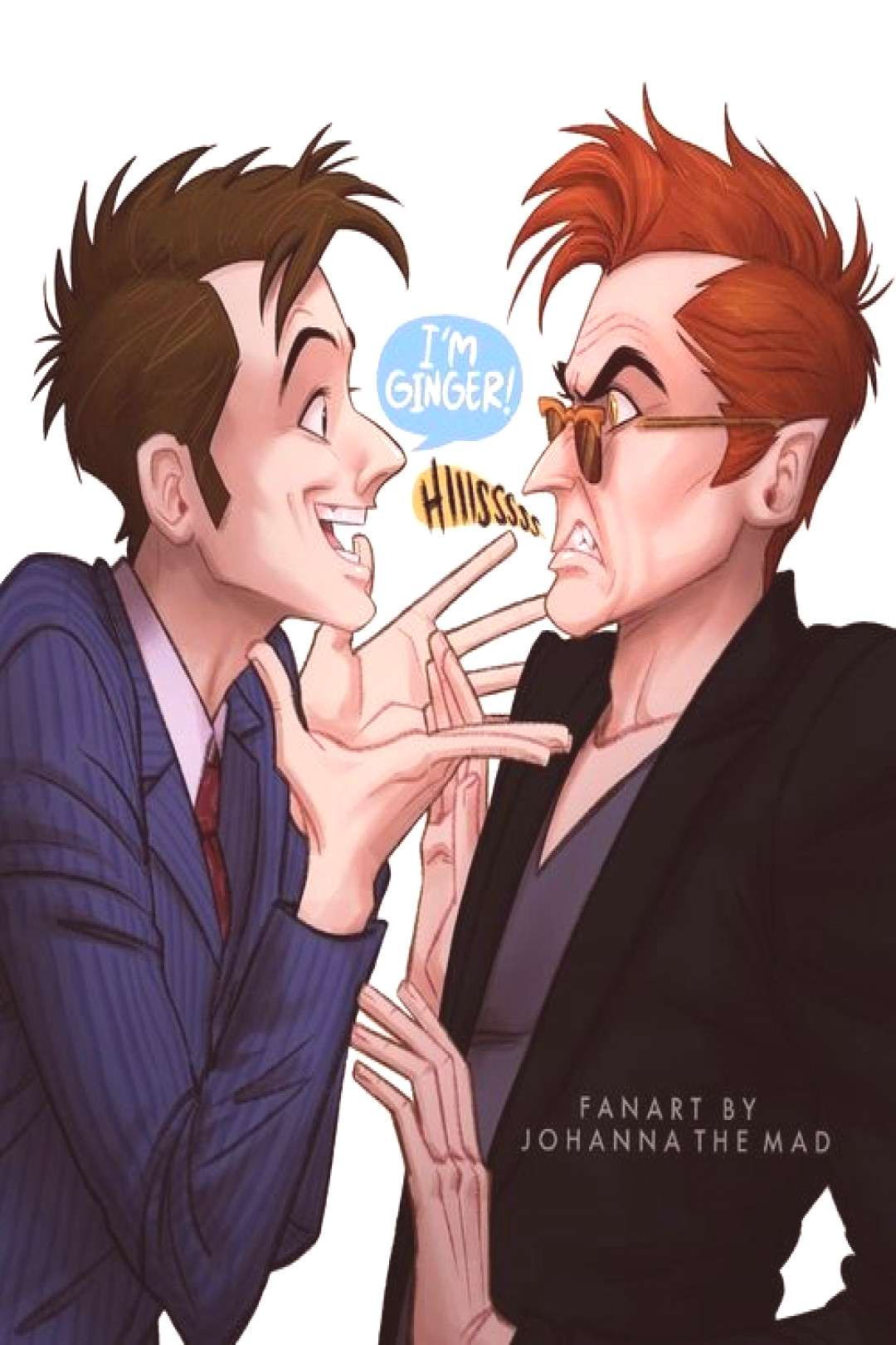 Crowley and Doctor | Good Omens | by @JohannaTheMad