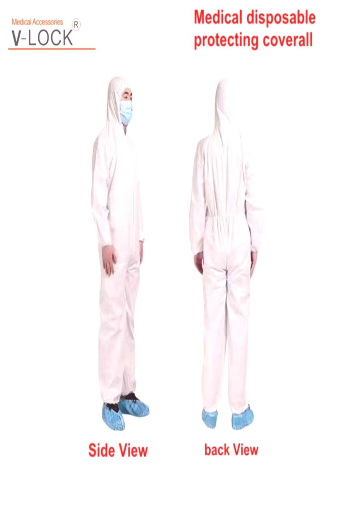 disposable medical protecting coverall islation cover 5PCS packing Price $87.75  #belugabazaar