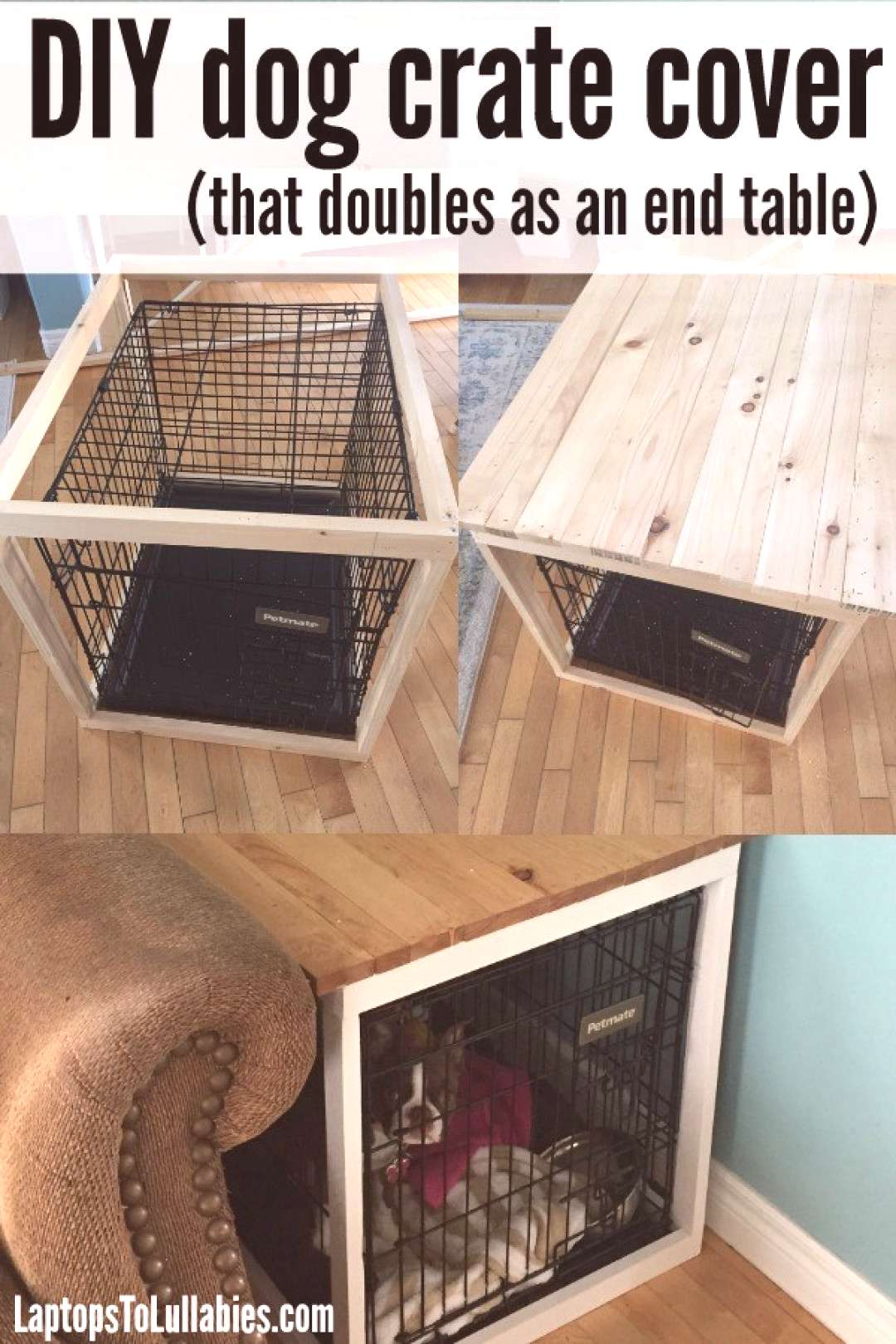 DIY Dog Crate Cover -
