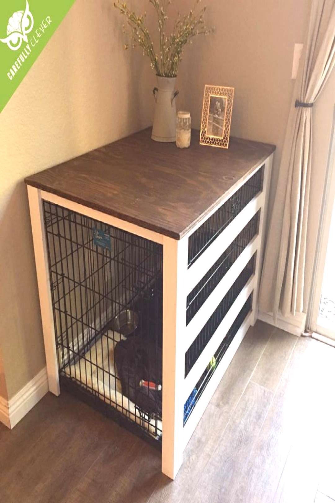 DIY Dog Crate Cover | Carefully Clever