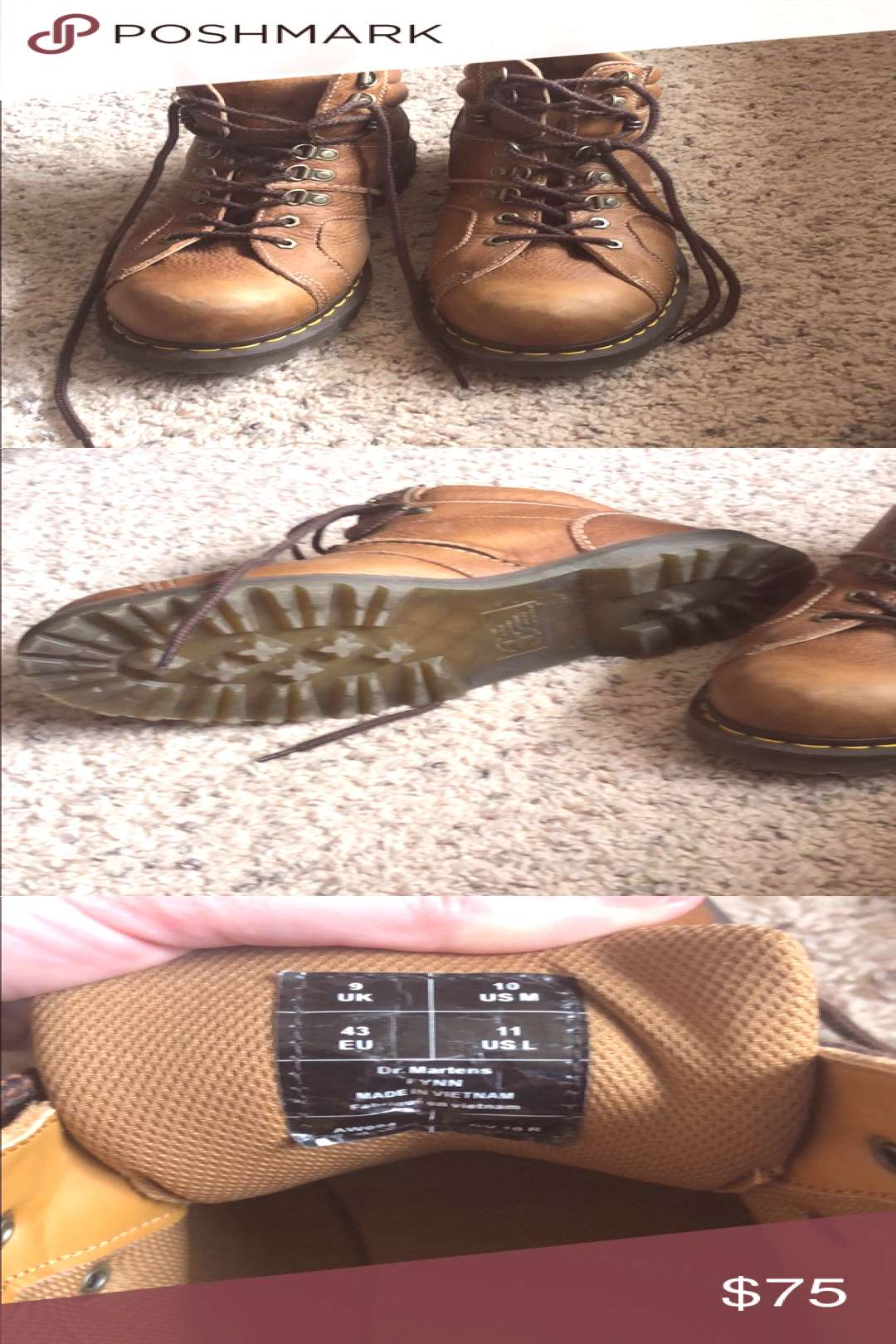 Doc Martins. Men's high top doc Martins. Size 10. Worn maybe 5 times. Dr. Martens Shoes Boots