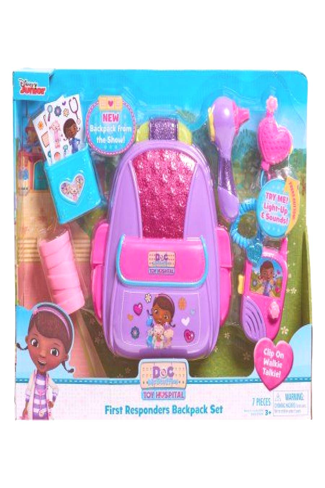 Doc McStuffins First Responders Backpack Set -