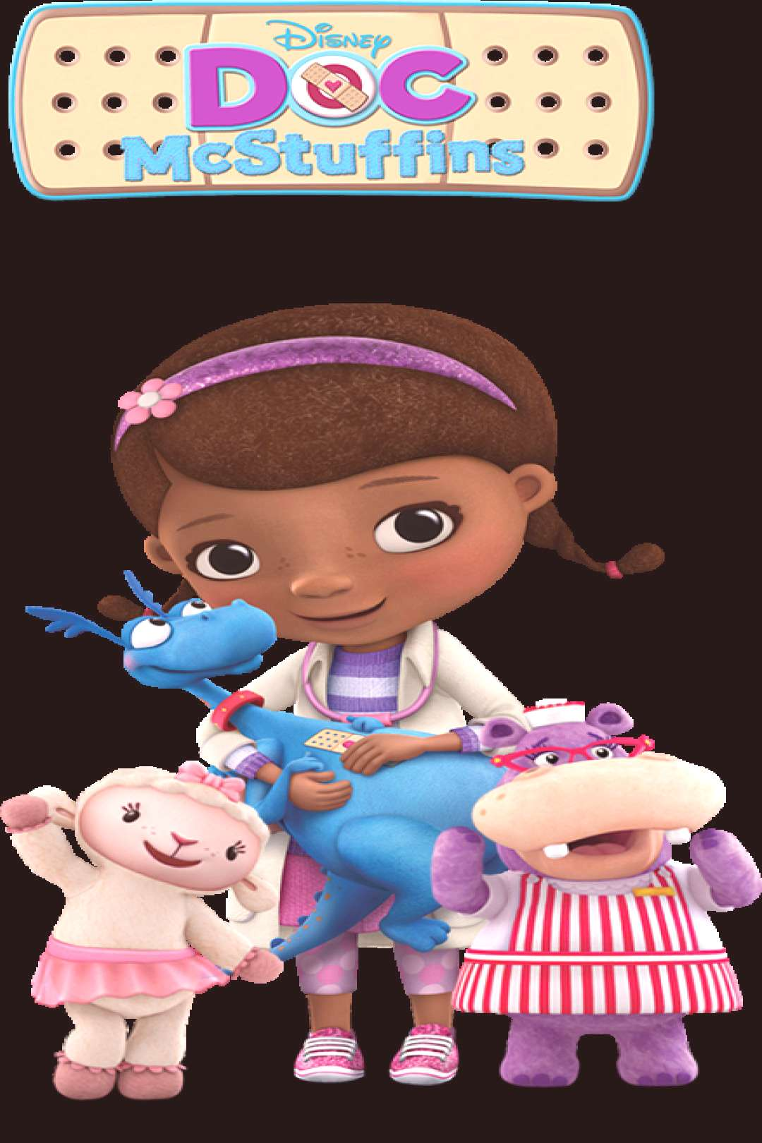 Doc McStuffins - one of Henry's favorites, doesn't seem to mind the slightly girlish (pinkish) over